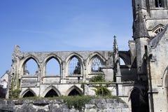 Παλαιά λεπτομέρεια εκκλησιών του Saint-$l*Etienne Στοκ Εικόνα