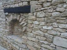Παλαιά λεπτομέρεια κάστρων της βασίλισσας Μαρία σε Balchik, Βουλγαρία Στοκ εικόνα με δικαίωμα ελεύθερης χρήσης