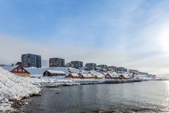 Παλαιά λιμενική άποψη του Νουούκ Στοκ Φωτογραφίες