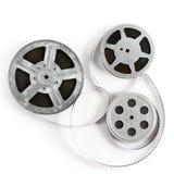 Παλαιά λουρίδα ταινιών στο άσπρο υπόβαθρο Τοπ όψη στοκ φωτογραφία με δικαίωμα ελεύθερης χρήσης