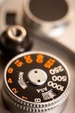 Παλαιά παλαιά μακρο φωτογραφία πινάκων παραθυρόφυλλων καμερών SLR στοκ φωτογραφίες με δικαίωμα ελεύθερης χρήσης