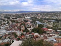 Παλαιά μεγάλη άποψη του Tbilisi στοκ εικόνα