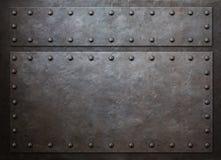 Παλαιά μετάλλων τρισδιάστατη απεικόνιση υποβάθρου ατμού πανκ Στοκ Εικόνα