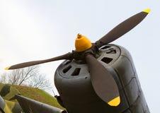 Παλαιά μηχανή αεροσκαφών Στοκ φωτογραφία με δικαίωμα ελεύθερης χρήσης