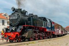 Παλαιά μηχανή Molli σιδηροδρόμου ατμού σε κακό Doberan στοκ εικόνες