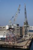 παλαιά ναυτιλία γερανών Στοκ Φωτογραφία