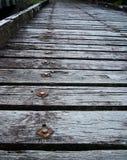 παλαιά ξυλεία γεφυρών στοκ εικόνα με δικαίωμα ελεύθερης χρήσης