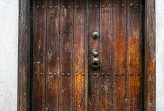 Παλαιά ξύλινη πόρτα εισόδων Στοκ Εικόνες