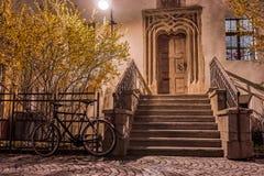 Παλαιά ξύλινη πόρτα ύφους στοκ φωτογραφία