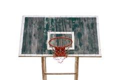 Παλαιά ξύλινη στεφάνη καλαθοσφαίρισης Στοκ Εικόνες