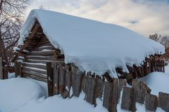 Παλαιά οδός πόλεων το χειμώνα, Soligalich στοκ εικόνες