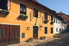 Παλαιά οδός σε Cesky Krumlov Η Δημοκρατία της Τσεχίας Στοκ Εικόνες