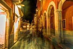 Παλαιά οδός σε Taormina, Σικελία, Ιταλία Στοκ Εικόνες