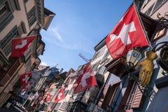 Παλαιά οδός της Ζυρίχης, Ελβετία Στοκ Φωτογραφία