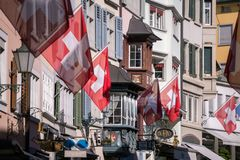 Παλαιά οδός της Ζυρίχης, Ελβετία Στοκ Εικόνες
