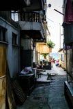 Παλαιά οδός της θερινής πόλης Στοκ Εικόνες