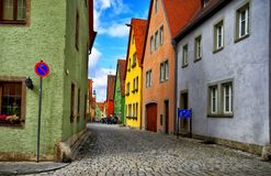 Παλαιά οδός του rothenburg ob der tauber Στοκ εικόνες με δικαίωμα ελεύθερης χρήσης