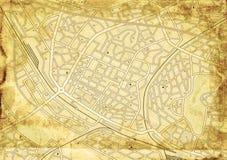 παλαιά οδός χαρτών Στοκ εικόνα με δικαίωμα ελεύθερης χρήσης