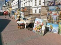 Παλαιά οδός Arbat, Μόσχα Στοκ φωτογραφία με δικαίωμα ελεύθερης χρήσης