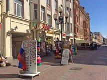 Παλαιά οδός Arbat, Μόσχα Στοκ Φωτογραφίες