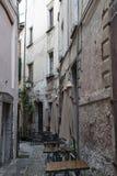 Παλαιά οδός Orta SAN Giulio, Ιταλία Στοκ Εικόνα