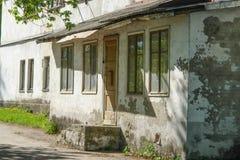 Παλαιά οικοδόμηση στις οδούς της Ρωσίας στοκ εικόνα