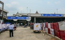 Παλαιά οικοδόμηση του αερολιμένα Jammu, Ινδία στοκ εικόνα