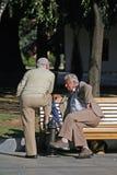 παλαιά ομιλία ατόμων Στοκ φωτογραφία με δικαίωμα ελεύθερης χρήσης