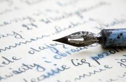 παλαιά πέννα επιστολών στοκ εικόνα