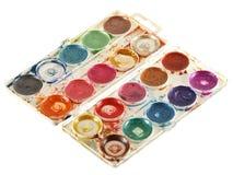 παλαιά παλέτα χρωμάτων watercolour στοκ εικόνα με δικαίωμα ελεύθερης χρήσης