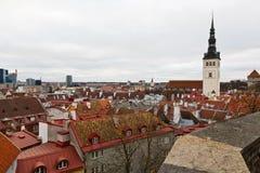 παλαιά πανοραμική πόλης όψη του Ταλίν Στοκ εικόνα με δικαίωμα ελεύθερης χρήσης
