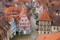 Παλαιά παραδοσιακά γερμανικά σπίτια στην κακή πόλη Wimpfen Στοκ Εικόνες