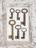 Παλαιά πλήκτρα μετάλλων Στοκ Φωτογραφία