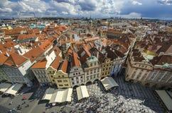 Παλαιά πλατεία της πόλης της Πράγας, καθεδρικός ναός Tyn Στοκ Εικόνα