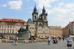 Παλαιά πλατεία της πόλης στη Δημοκρατία της Τσεχίας της Πράγας στοκ εικόνα