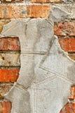 Παλαιά πλινθοδομή με το τσιμέντο σύσταση Στοκ φωτογραφία με δικαίωμα ελεύθερης χρήσης