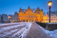 παλαιά Πολωνία πόλη του Γντανσκ Στοκ Εικόνες