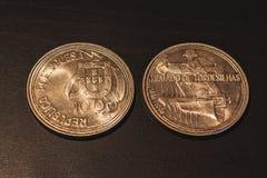 Παλαιά πορτογαλικά νομίσματα & x22 Escudos& x22  στοκ εικόνες με δικαίωμα ελεύθερης χρήσης