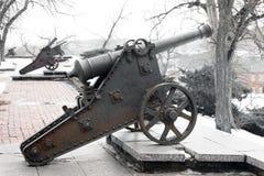 Παλαιά πυροβόλα στο πάρκο στοκ φωτογραφίες