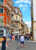 Παλαιά πόλης οδός Ελλάδα της Κέρκυρας Στοκ φωτογραφία με δικαίωμα ελεύθερης χρήσης