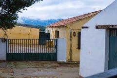 Παλαιά πόλη, άσπρο χωριό Ronda, Ανδαλουσία, Ισπανία Στοκ Εικόνες