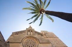 Παλαιά πόλη, εκκλησία Sant Jaume σε Majorca Alcudia, Μαγιόρκα, των Βαλεαρίδων $νήσων νησί, Ισπανία 28 06 2017 Στοκ φωτογραφία με δικαίωμα ελεύθερης χρήσης