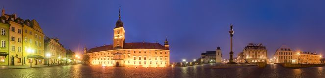 Παλαιά πόλη και το βασιλικό Castle στη Βαρσοβία, Πολωνία Στοκ Εικόνα