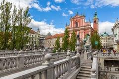 Παλαιά πόλη και φραντσησθανή εκκλησία Annunciation Στοκ φωτογραφία με δικαίωμα ελεύθερης χρήσης