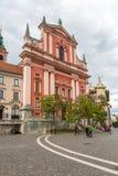 Παλαιά πόλη και φραντσησθανή εκκλησία Annunciation Στοκ Φωτογραφία