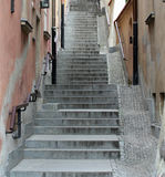 παλαιά πόλη σκαλοπατιών Στοκ Εικόνες