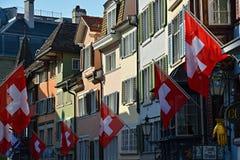 Παλαιά πόλη στη Ζυρίχη, Ελβετία Στοκ εικόνες με δικαίωμα ελεύθερης χρήσης