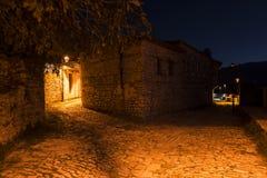 Παλαιά πόλη στο κάστρο των Βεράτιο στην Αλβανία Στοκ εικόνα με δικαίωμα ελεύθερης χρήσης