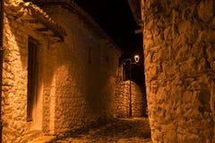 Παλαιά πόλη στο κάστρο των Βεράτιο στην Αλβανία Στοκ Φωτογραφία