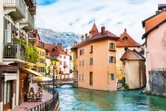Παλαιά πόλη στο Annecy, Γαλλία Στοκ φωτογραφίες με δικαίωμα ελεύθερης χρήσης